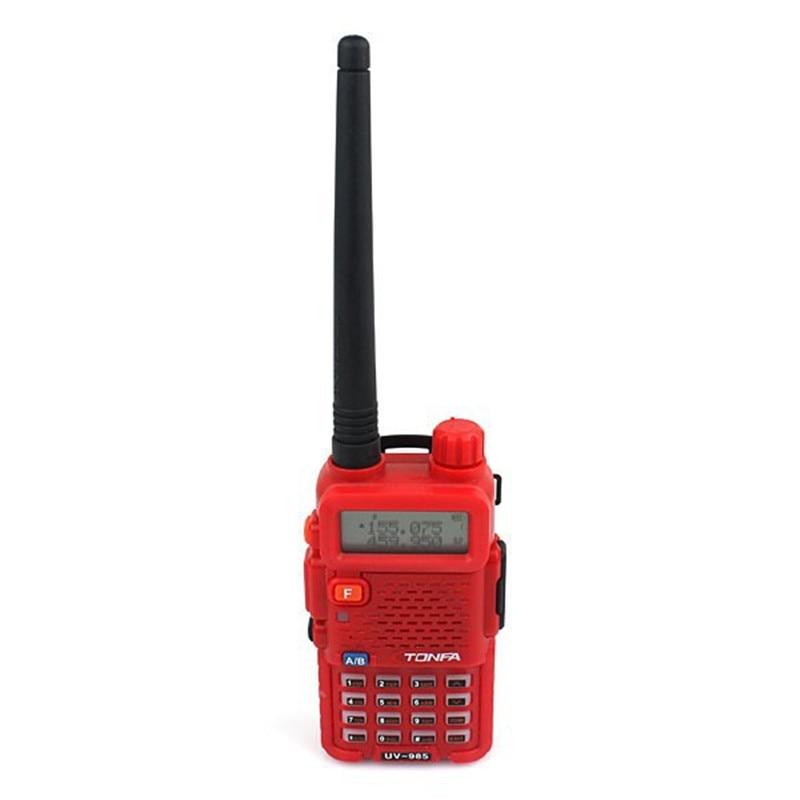 Nueva Banda Dual 8W UHF 400-470MHz & VHF 136-174MHz FM VOX DTMF ANI-ID TONFA UV-985 CB Radio Walkie Talkie rojo