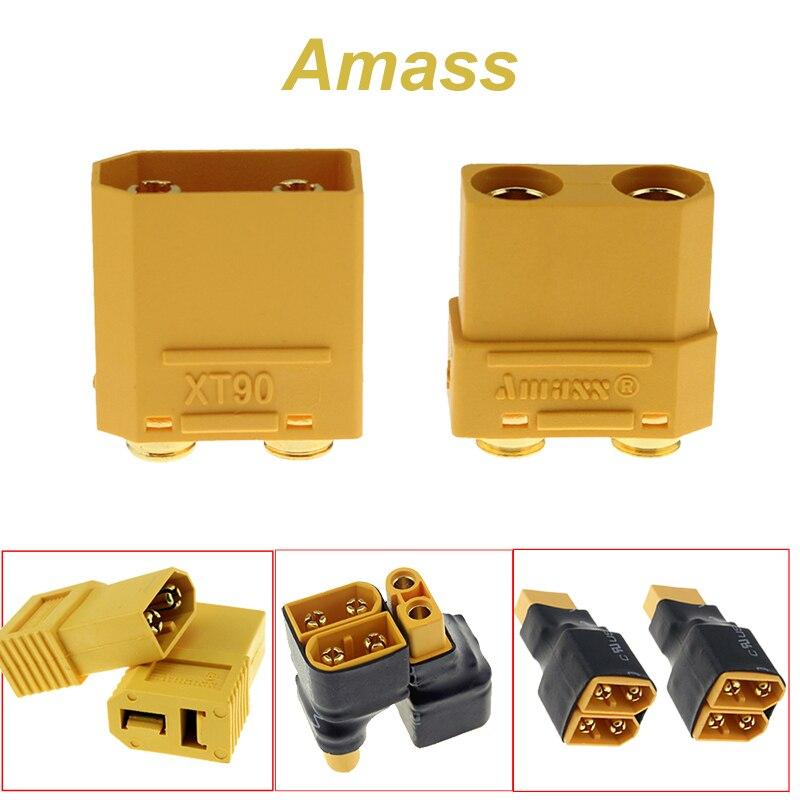 Amass XT90PB XT60 série adaptateur convertisseur connecteur mâle à femelle XT60/XT90 parallèle FPV Drone connecteur de batterie