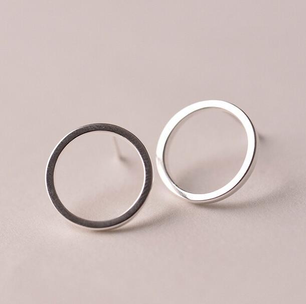 Женские-серьги-гвоздики-с-кругами-простые-серебряные-сережки-пусеты-из-стерлингового-серебра-с-украшением-в-виде-кружков-новая-модель