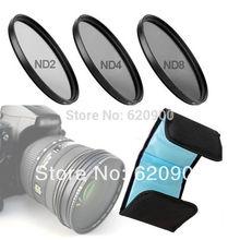 100% garantie 62mm 67mm 72mm 77mm densité neutre filtre ensemble de lentilles ND2 ND4 ND8 ND 2 4 8 77M 77MM