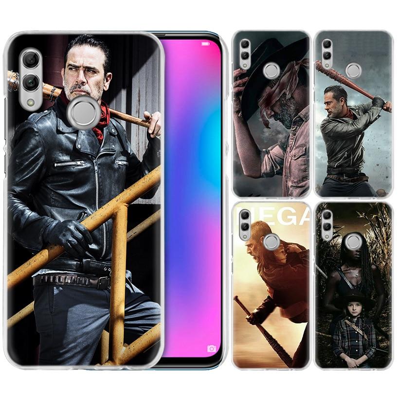 Negan caminando muerto funda para Huawei Honor 8X Y9 20 9 10 Lite jugar 8C 8A Pro V20 20i Y6 y7 Y5 2019 funda dura para teléfono PC