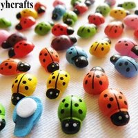 500pcslot7 color ladybug stickers kids toys early educational toys kindergarten crafts plant decoration wall fridge stickers