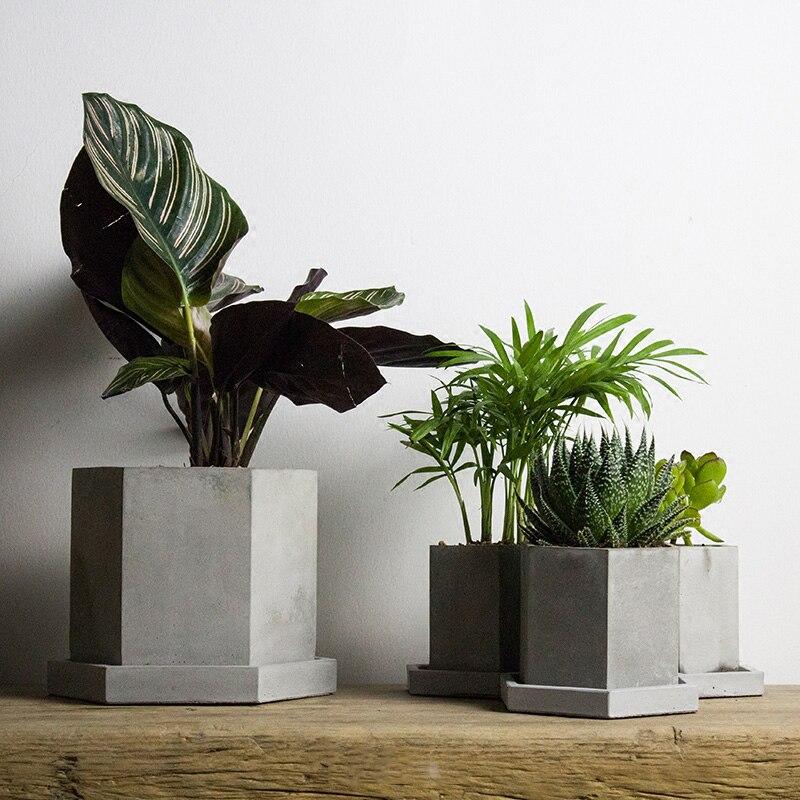 Шестиугольный цветочный горшок Силиконовые формы для изготовления бетона DIY ручной работы цементные формы для ВАЗ