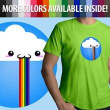 Snapchat Rainbow Puke Barf Filter Funny Cloud Unisex Mens Tee Crew Neck T-Shirt
