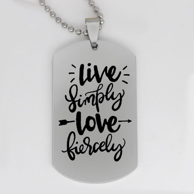 Ufine ювелирные изделия подарок для девочки кулон армейская карта живая просто любовь яростное ожерелье из нержавеющей стали на заказ N4255