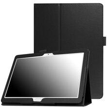 화웨이 mediapad m3 lite 용 케이스 10 BAH-W09 BAH-AL00 화웨이 m3 lite 용 슬림 접이식 스탠드 커버 10.1 인치 태블릿 funda + 필름 + 펜