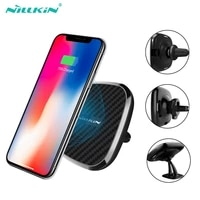 nillkin 360 rotation car wireless charger for samsung galaxy s10 s9 s8 s7 plus 10w wireless magnetic vehicle qi fast chargers