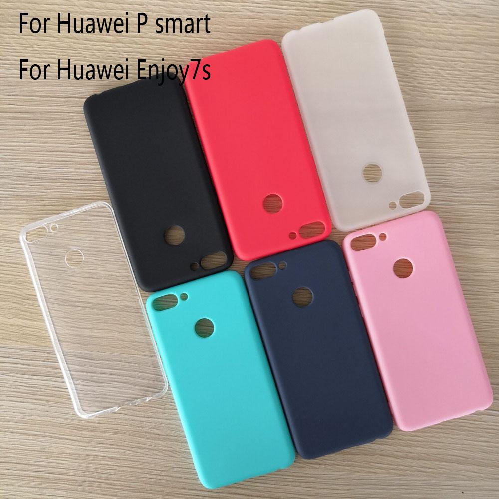 Funda para Huawei P smart de 5,65 pulgadas, parachoques de goma mate, funda de silicona blanda de TPU para Huawei Psmart P smart 2017 2018, funda Ultra delgada
