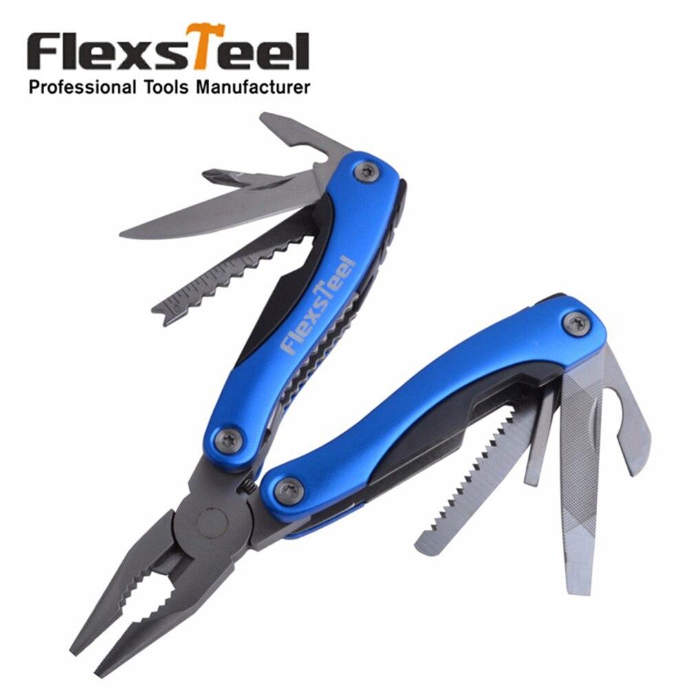 Flexsteel 12 en 1 alicates multiherramienta de gran tamaño al aire libre para la supervivencia alicates de bolsillo multifuncional cuchillo dentado juego de mandíbula herramientas de mano