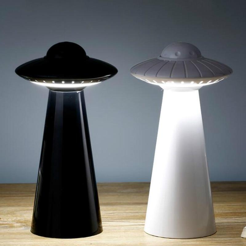 عكس الضوء Led ضوء الليل UFO الجدول مصباح USB قابلة للشحن للأطفال الطفل السرير غرفة نوم غرف معيشة دراسة الغلاف الجوي الإضاءة