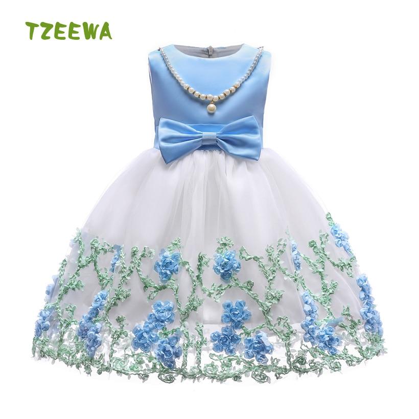 Vestido de verano para chica moda para chicas vestido de princesa Kiz Cocuk Elbise fiesta vestidos con tutú para niña sin mangas encaje niñas vestido de boda
