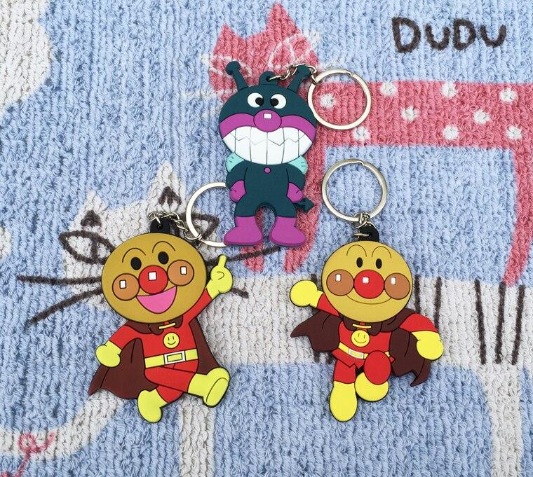 Lvyye Anpanman Baikinman llavero animé PVC figura llavero lindo juguete llavero cumpleaños regalos Unisex nuevo