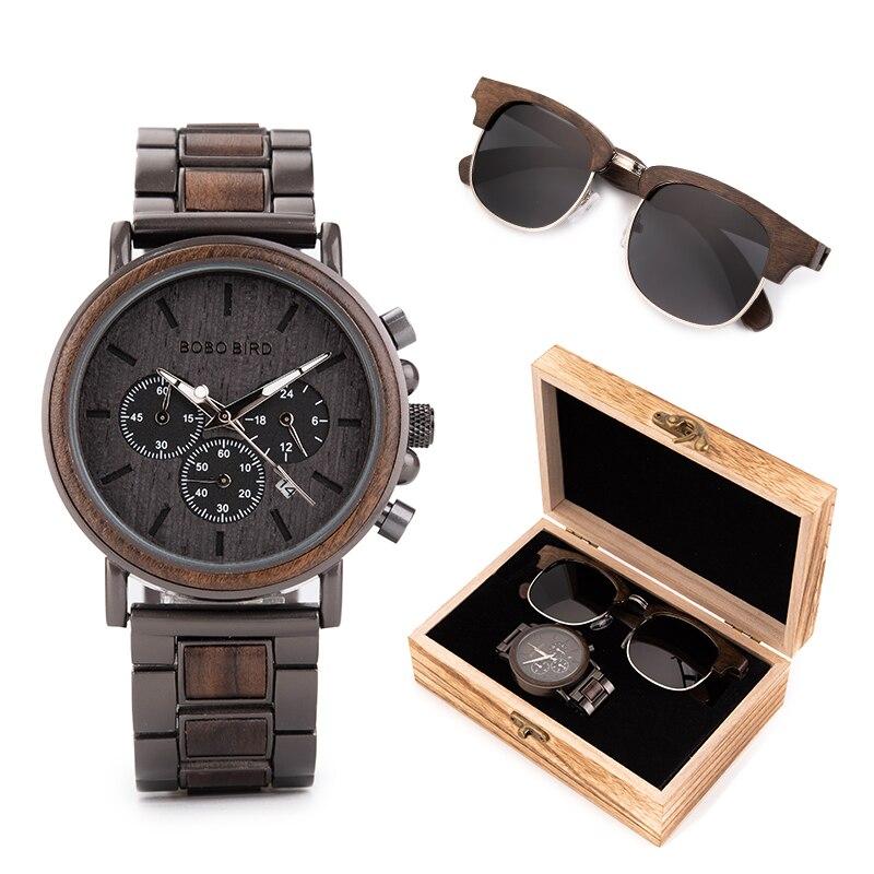 Reloj de sol para hombre, para mujer, BOBO BIRD relogio masculino, en caja de regalo, reloj de pulsera para hombre, cronómetro saat erkek, Relojes