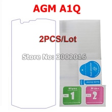 2PCS Tempered Glass For AGM A1Q Screen Protector 9H Scratch-proof Ultra-thin Protective Mobile Phone