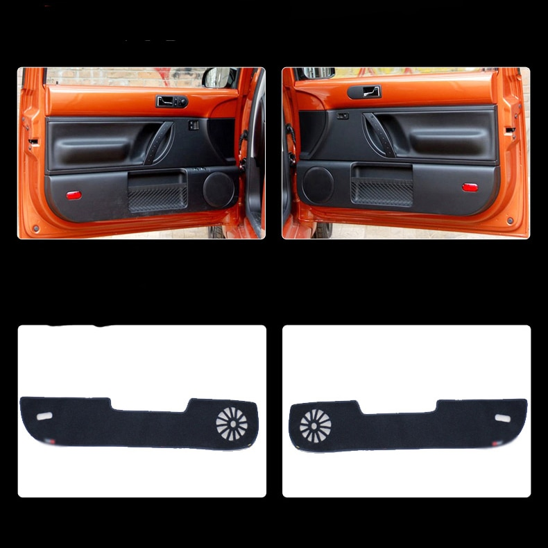 2 pcs Tecido Proteção Porta Mats Anti-kick Decorativa Almofadas Para VW Beetle 2012-2015