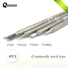 4 шт./компл. T12-K T12-ILS T12-BC2 паяльник наконечники серии T12 сварочная головка паяльная станция T12-KU