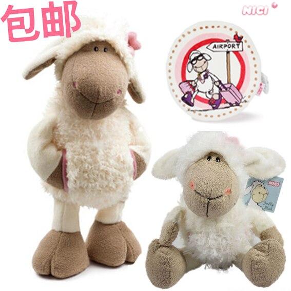 Brinquedo de pelúcia agradável boneca de pelúcia bonito jolly mah dolly sheep head pano de flor com bolso animal pai-criança presente de história de dormir 1pc