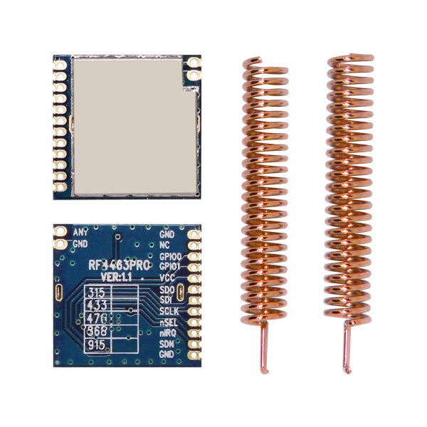10 unids/lote RF4463PRO-433 MHz 100 mW Si4463 chip de alta sensibilidad-126dBm 1 km transmisor y receptor inalámbrico módulo