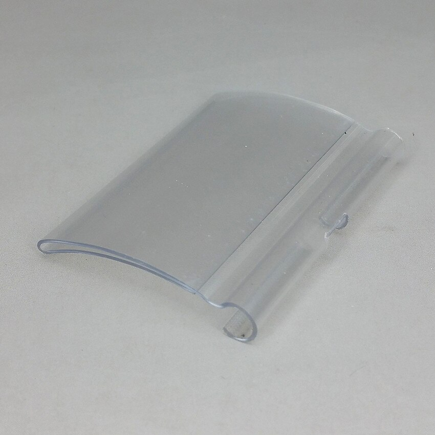 Radian Type Clear PVC Plastic Price Tag Sign Label Display Holder Thickening For Supermarket Or Store Shelf Hook Rack 5000pcs