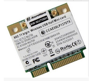 AzureWave AW-NU706H RT3070 RT3070L 150 Мбит/с Mini PCI-e Беспроводная WLAN Wifi карта