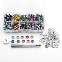 eyelets diy materials color spray gas rivets color buttonholes multicolor buckle shoelaces eye metal hole eyelet tool