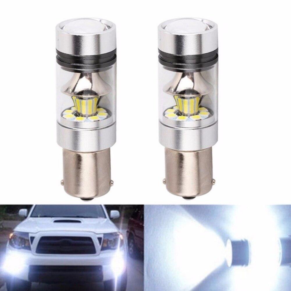 2*6000K 8000K 1156 P21W BA15S LED Canbus Error libre 20*5W SMD decodificador lámpara Canbus bombilla reversa intermitente luz con resistencia
