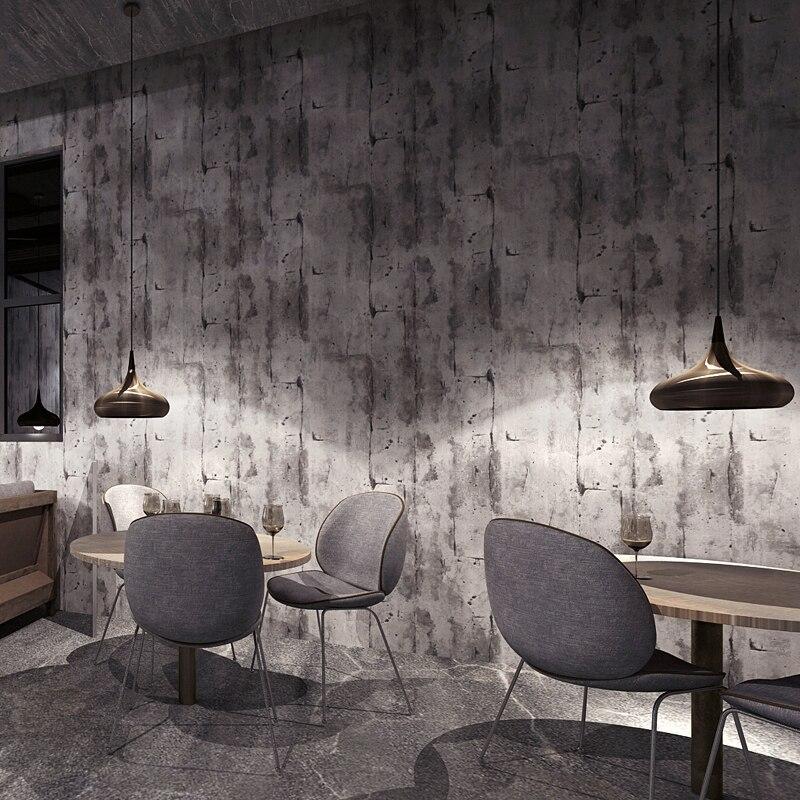 Papel parede Vintage óxido papeles tapiz decoración del hogar Loft industralizado rollos de papel de pared para barbería decoración de tienda casa