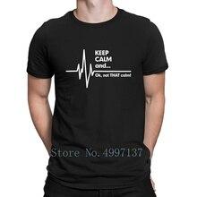 Gardez le calme Ekg Ems t-shirt paramédical Style dété de base col rond 100% coton imprimé images uniques chemise Anti-rides