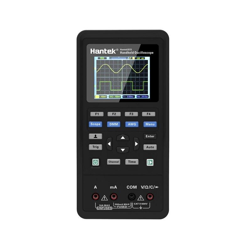 Hantek 3 en 1 Osciloscopio Digital portátil + generador de formas de onda + multímetro USB 2 canales 40mhz 70mhz medidor de probador de oscioscopio