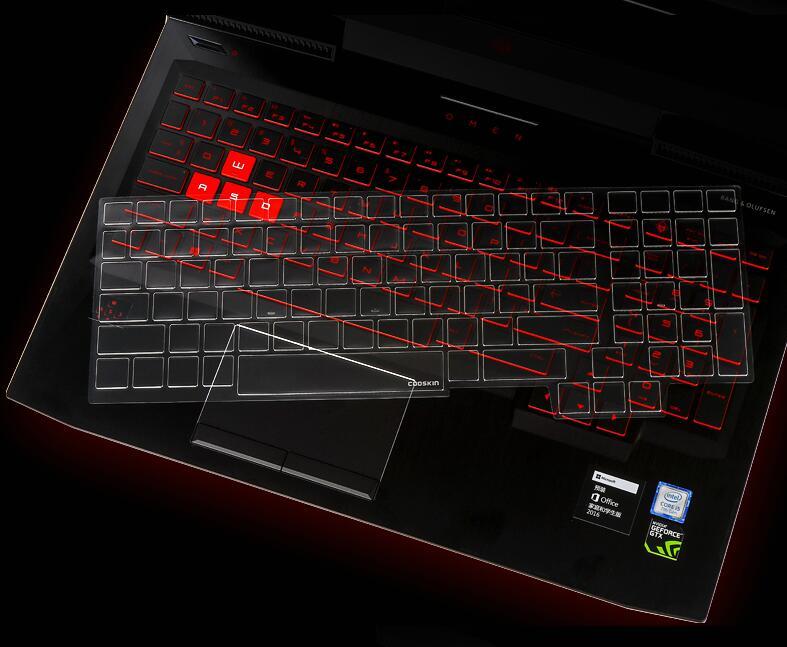 """Protectores de teclado Tpu transparentes para ordenador portátil para 2017 OMEN HP 15 ce020ca ce008ca ce004na ce017na ce019na 15,6"""""""