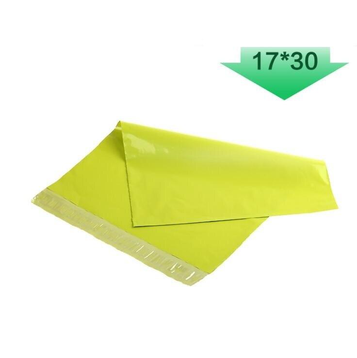 17x30cmGrass зеленый поли Mailer почтовый пакет Органайзер Bolsas хранения Adesivos пластик де пластик о Embalagem Saco Конверт Экспресс