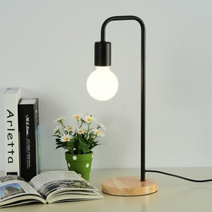 Modern Wood Table Lamp White Black Office Desk Light Bedroom Bedside Table Lamp Fashion Warm Study Mini Decor Table Light AL184