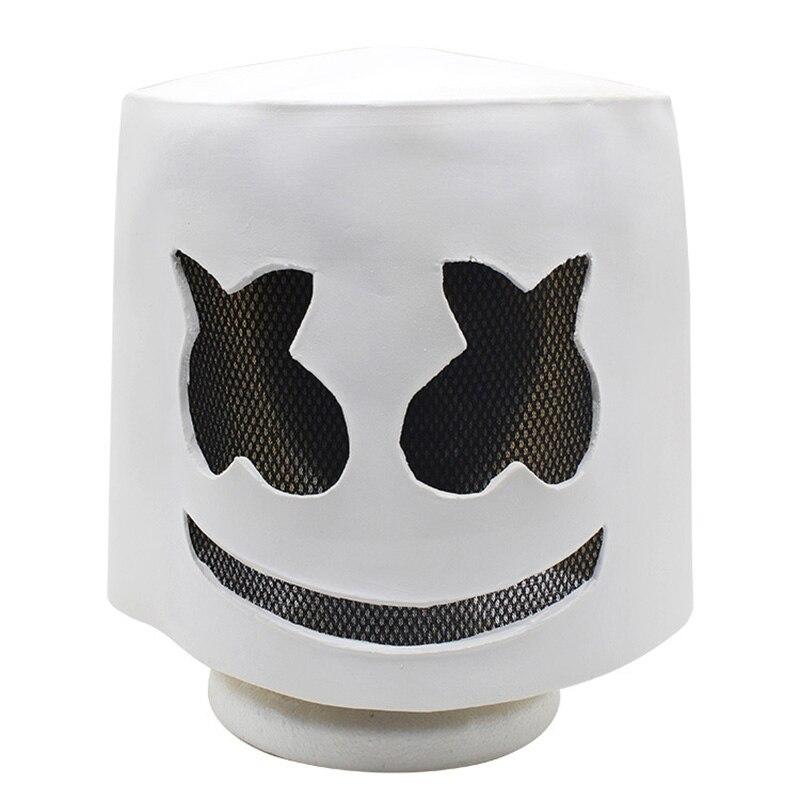 Забавная маска для косплея DJ Marshmello, шлем на всю голову, маскарадный костюм для Хэллоуина