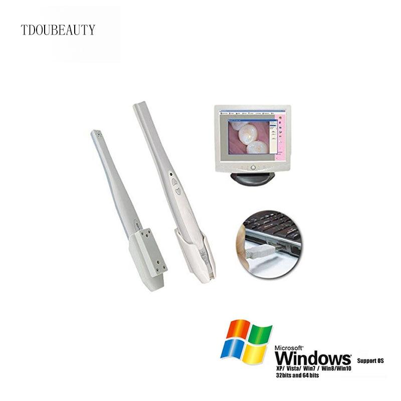TDOUBEAUTY MD740 conexión USB 1,3, 6 Led, Max 3,8 Mega píxeles, cámara Intraoral Dental Intraoral herramienta de imagen de dentista