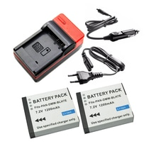 2 pièces 1200mAh DMW-BLH7 DMW-BLH7E DMW BLH7 / BLH7E batterie + chargeur pour Panasonic Lumix DMC-GM1 GM5 GF7 DM CGM7 appareil photo numérique