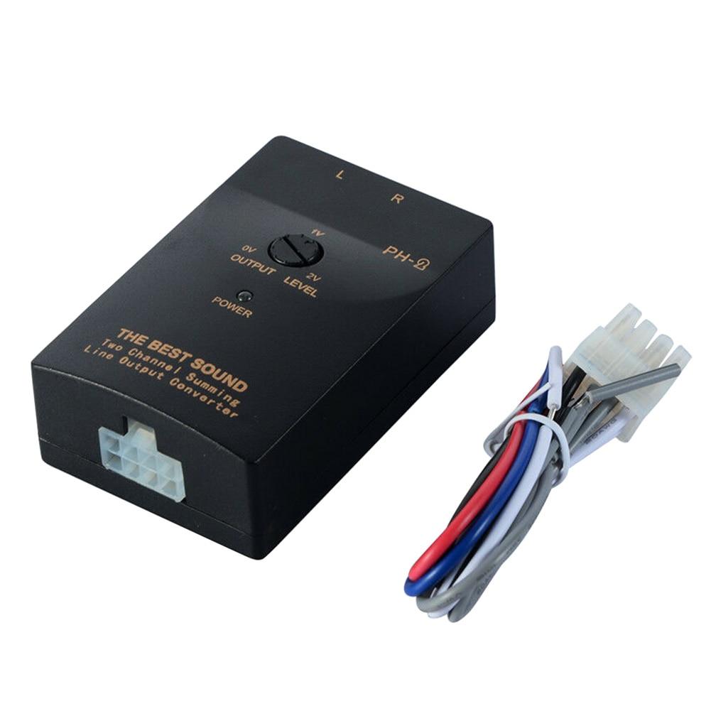 Amplificatore Universale di Alta A Basso VF Livello di Ricambio Stabile Auto RCA Stereo Uscita Audio Convertitori di Segnale Speaker Subwoofer PH-2