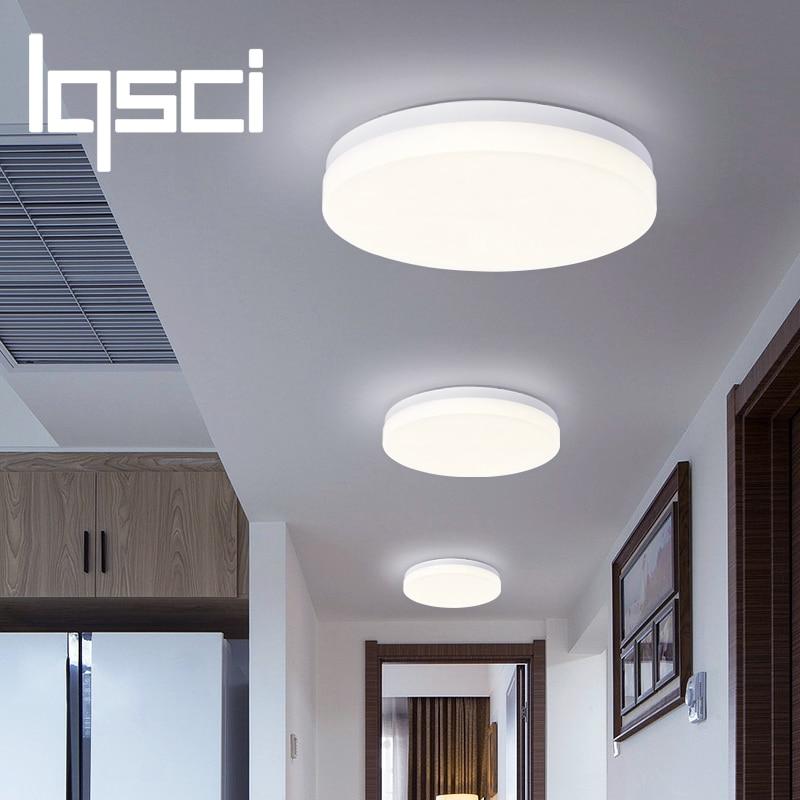 LQSCI 9W 13W 18W 24W 36W 48W LED Panel Circular luz montado en la superficie Luz de techo led AC 85-265V lampada led lámpara