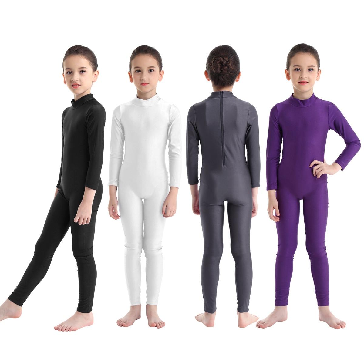 TiaoBug niños de manga larga con cremallera profesional Ballet traje leotardo gimnasia danza desgaste niños niñas acrobacias gimnasio Unitards