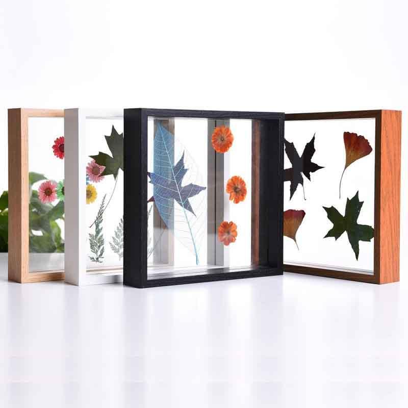 Pinza de muestra de planta nórdica, flor seca, Manual, marco de fotos transparente, Material en relieve, decoración de hojas de helecho, pintura colgante