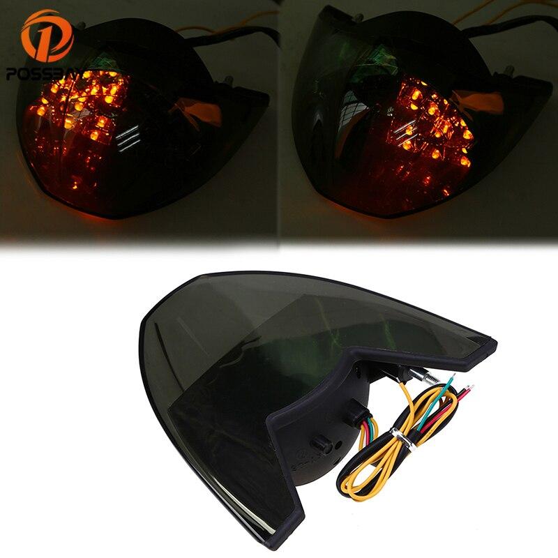 POSSBAY motocicleta intermitente personalizado 12V LED larga vida útil lámpara de freno luces traseras intermitentes para KTM 690 990 2005-2011