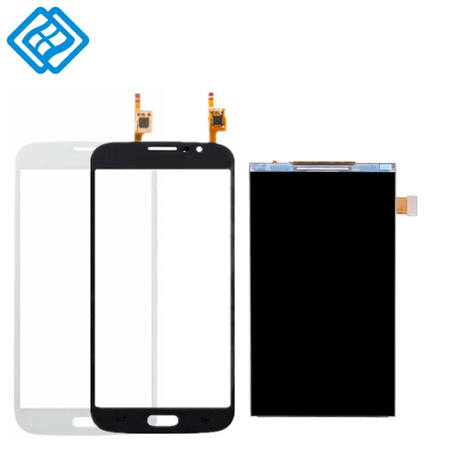 Para SAMSUNG I9152 lcd párr Mega 5,8 i9150 i9152 pantalla LCD de pantalla tactil digitalizador Asamblea piezas marco para sams