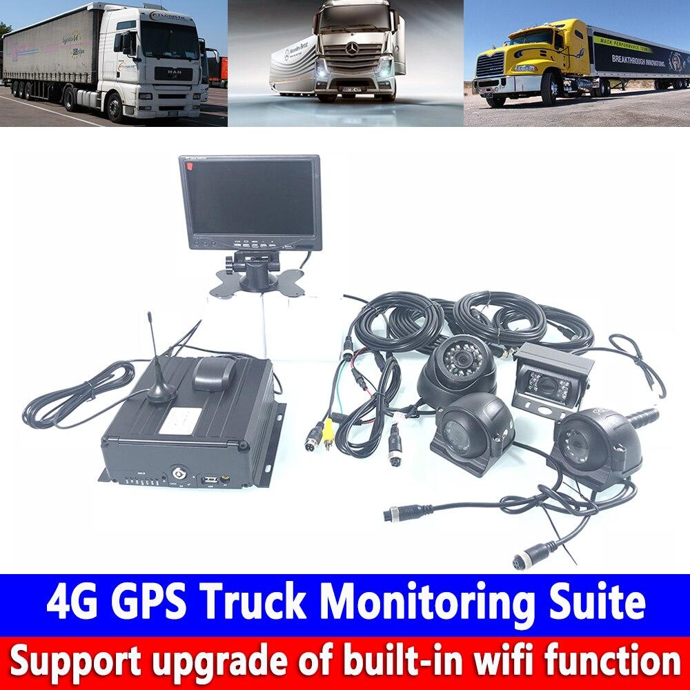 Kit de monitoramento para caminhão, táxi/off-road, veículo harvester, 4g, gps, monitoramento remoto, 4 estradas, visão noturna monitoramento em tempo real hd