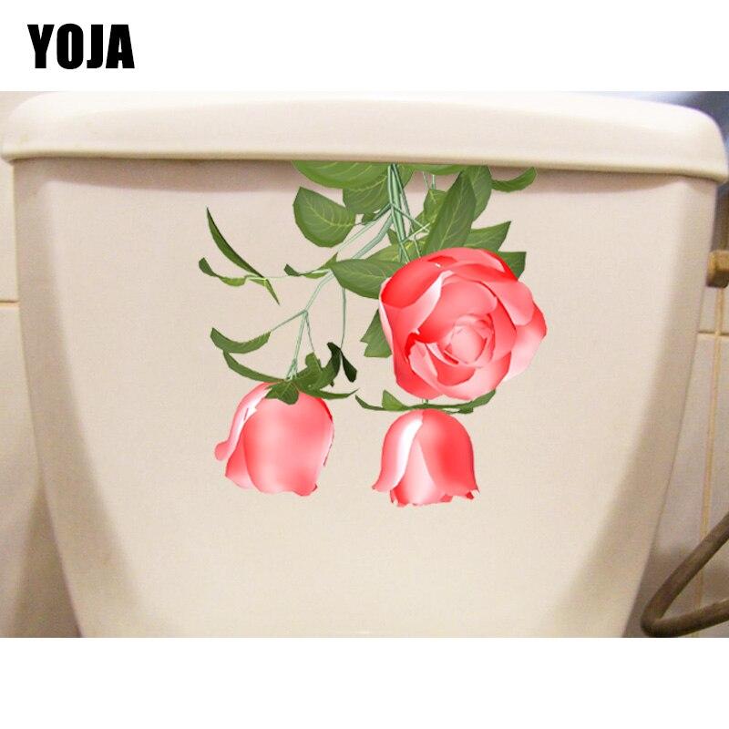 YOJA 22.2*21.8CM Rose Branch Classic Living Room Wall Sticker Decal Home Bathroom Toilet Decor T1-0762
