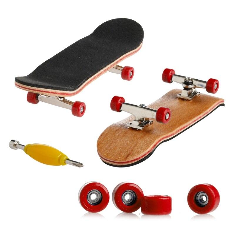 2019 nova plataforma de madeira fingerboard skate jogos do esporte crianças presente maple madeira conjunto novo