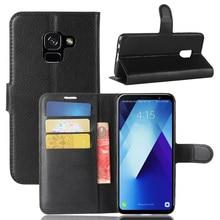Fashion Wallet Pu Leather Case Cover Voor Samsung Galaxy A8 Plus 2018 A730F Flip Beschermende Telefoon Terug Shell Met Card houders