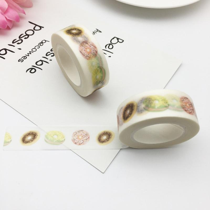 Japanese Doughnut Washi Tape Decorative Tape  Scrapbook Paper  Masking Sticker Photo Album Washi Tape 1.5cm*10m 1pc