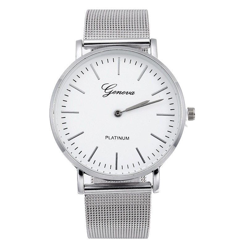 часы женские Luxury brand geneva Women Watches Reloj mujer Fashion Stainless Steel Band Quartz-Watch Zegarek damski