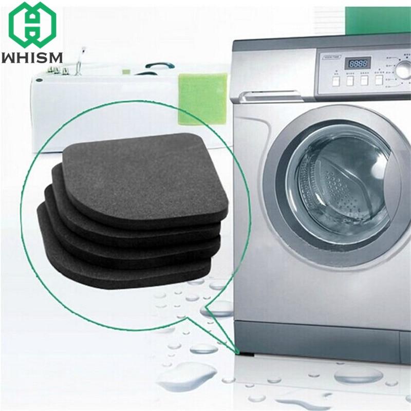 WHISM 8 Uds alfombrillas protectoras antideslizantes de goma antivibración para lavadora para nevera o muebles suministros de baño
