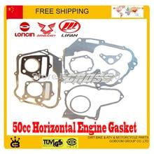 49cc 50cc jcl taotao zongshen LONCIN lifan yx orion junta motor horizontal dirt pit macaco acessórios atv quad frete grátis