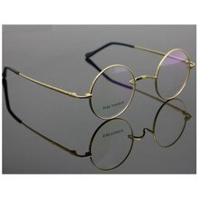 Czystego tytanu rocznika małe okrągłe 42 44mm John Lennon ramki okularów krótkowzroczność Rx w stanie okulary